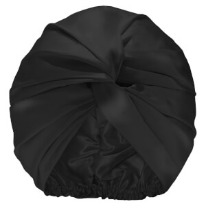 Slip Pure Silk Turban - Black