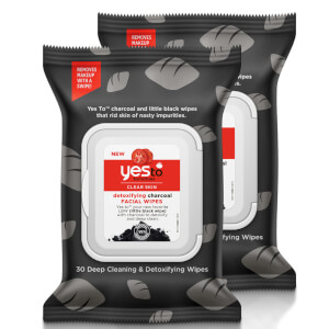 yes to Tomatoes Clear Skin Detoxifying Charcoal Facial Wipes (Pack of 2) (Worth £9.98)