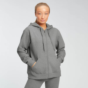 Sweat à capuche zippé MP Essentials pour femmes – Gris chiné