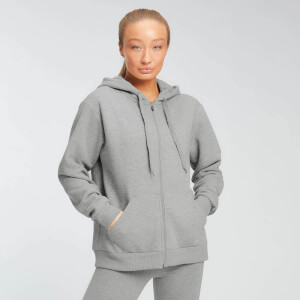 MP Damen Essentials Zip Through Hoodie - Grey Marl