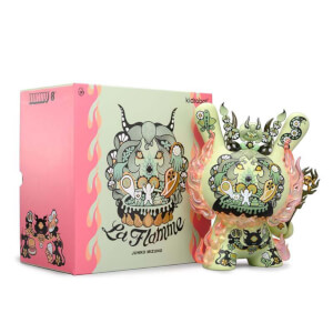 Kidrobot La Flamme by Junko Mizuno 8 Inch Green Dunny Vinyl Figure