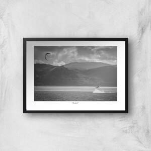 Gogarth Kite Surfer Giclée Art Print