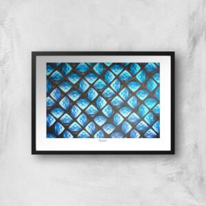 Birmingham Texture Wall Giclée Art Print