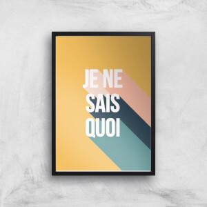 Je Ne Sais Quoi Giclée Art Print