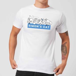Simons Cat Playful Cat Men's T-Shirt - White