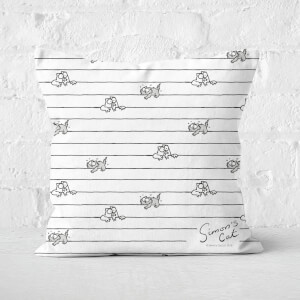 Simons Cat Scared Cats Square Cushion