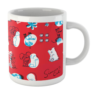 Simons Cat Excited Dogs White 11oz Mug