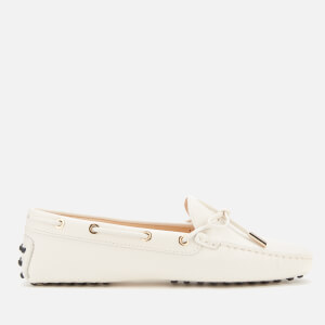 Tod's Women's Gommino Lace/Eyelets Driving Shoes - Mousse