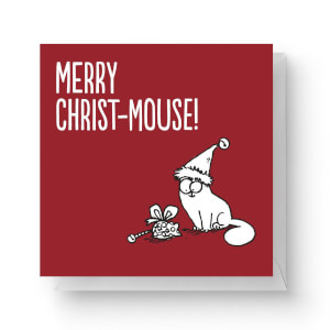 Simons Cat Merry Christ-Mouse Square Greetings Card (14.8cm x 14.8cm)