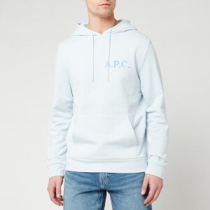A.P.C. Men's Stamp Hoody - Blue Clair