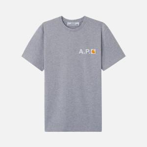 A.P.C. X Carhartt Men's Fire H T-Shirt - Gris Chine