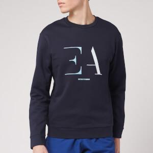 Emporio Armani Men's Gradient Ea Logo Sweatshirt - Navy