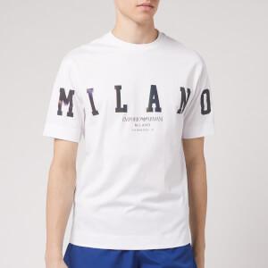 Emporio Armani Men's Foil Logo T-Shirt - White
