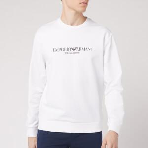 Emporio Armani Men's Large Logo Sweatshirt - White