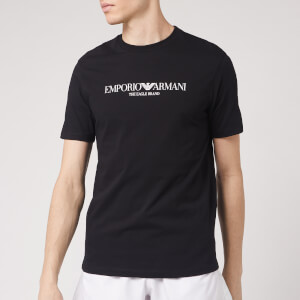 Emporio Armani Men's Large Logo T-Shirt - Black