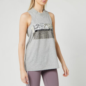 adidas by Stella McCartney Women's Graphic Tank Top - Mid Grey/White