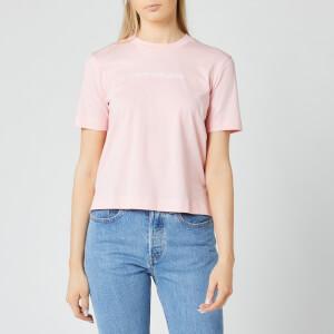 Calvin Klein Jeans Women's Shrunken Institutional Logo T-Shirt - Keepsake Pink