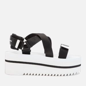 Tommy Jeans Women's Pop Color Flatform Sandals - Black/White