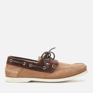 Tommy Hilfiger Men's Classic Suede Boat Shoes - Classic Khaki/Cocoa