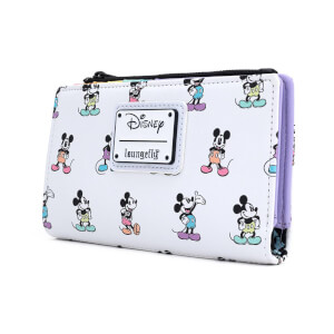 Loungefly Disney Mickey Mouse Pastel Aop Poses Wallet