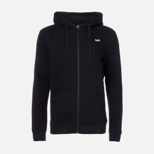 MP Essentials Zip Through Hoodie för män – Svart