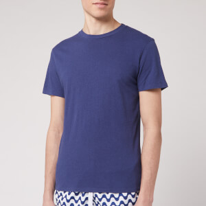 Frescobol Carioca Men's Crew Neck T-Shirt - Navy Blue