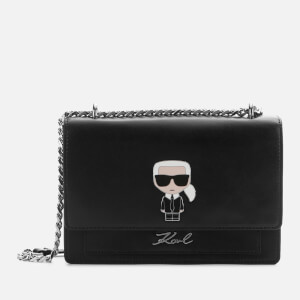 Karl Lagerfeld Women's K/Ikonik Metal Lock Shoulder Bag - Black