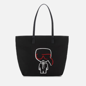 Karl Lagerfeld Women's K/Ikonik Canvas Shopper - Black