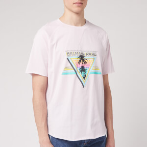 Balmain Men's Printed Raw Edge T-Shirt - Multicolour