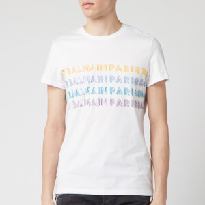 Balmain Men's Printed Balmain T-Shirt - White