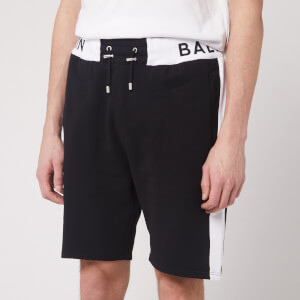 Balmain Men's Balmain Rib Bermuda Shorts - Black