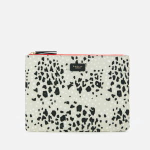 Radley Women's Leopard Oilskin Medium Tech Pouch - Light Grey