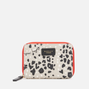 Radley Women's Leopard Oilskin Medium Zip Around Purse - Light Grey