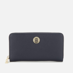 Tommy Hilfiger Women's Core Large Zip Around Purse - Sky Captain