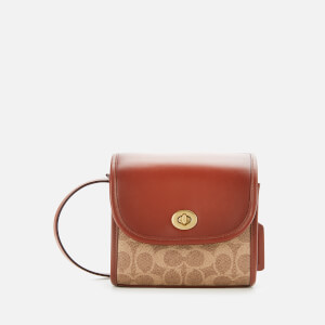 Coach 1941 Women's Runway Coach Originals Coated Canvas Signature Turnlock Lunchbox Pouch - Tan Rust