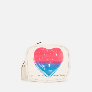 Coach 1941 Women's Coach X Richard Bernstein Heart Zip Pouch - Chalk Multi