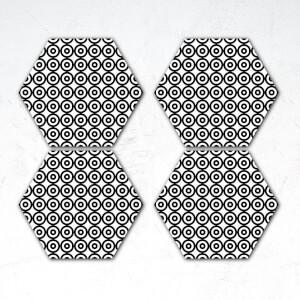 Circles Hexagonal Coaster Set