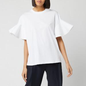 Victoria, Victoria Beckham Women's Flounce Sleeve T-Shirt - White