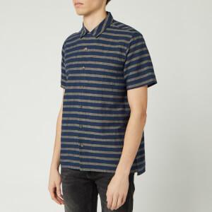 PS Paul Smith Men's Short Sleeve Casual Shirt - Dark Navy