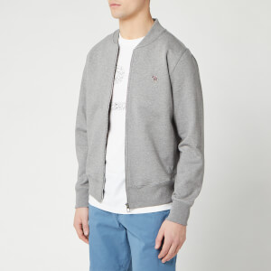 PS Paul Smith Men's Sweat Bomber Jacket - Melange Grey