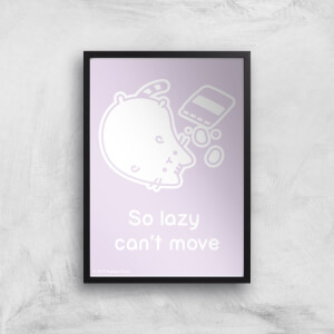 Pusheen So Lazy Can't Move Giclee Art Print