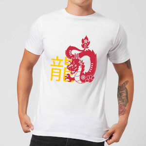 Chinese Zodiac Dragon Men's T-Shirt - White