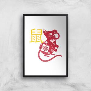 Chinese Zodiac Rat Giclee Art Print