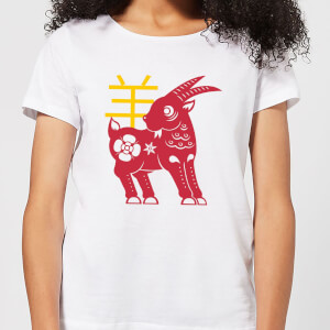 Chinese Zodiac Goat Women's T-Shirt - White