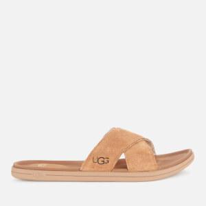 UGG Men's Brookside Suede Slide Sandals - Chestnut
