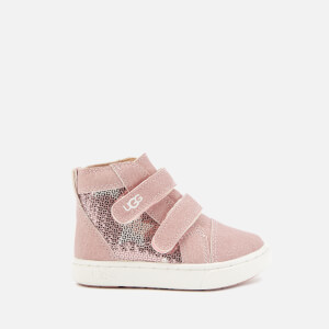 UGG Toddlers' Rennon II Stars Hi-Top Trainers - Pink Crystal