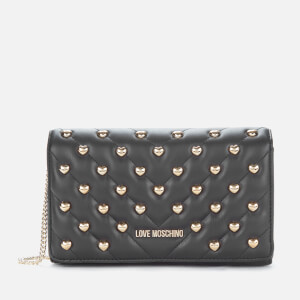 Love Moschino Women's Quilted Stud Shoulder Bag - Black