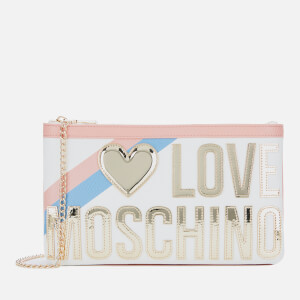 Love Moschino Women's Logo Stripe Shoulder Bag - Fantasy