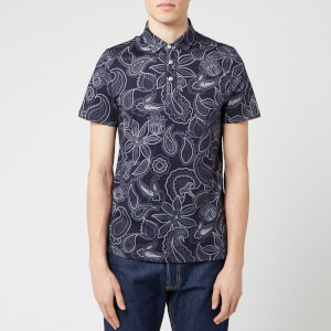 Ted Baker Men's Fright Paisley Printed Polo Shirt - Navy