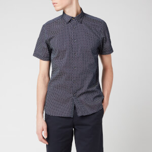 Ted Baker Men's Sortit Geo Print Shirt - Navy